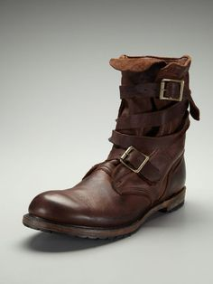 Isaac Tanker Boots by Vintage Shoe Company