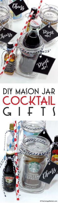 Well our week of Weddings in a Jar Continues!!!  Today we have a a Super Simple little gift idea for your Bridesmaids…Groomsmen or just about anyone in the Wedding Crew!  DIY Mason Jar Cocktail Gifts If you want to surprise them with just a little something to say CHEERS with…how about putting together a little …