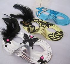 masquerade party guest favors; design by Davis Floral Creations