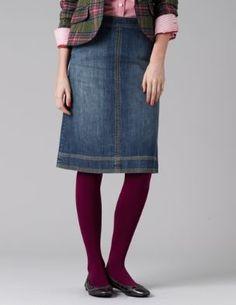 Love Midi Skirts? shop: The Blue Keystone https://www.thebluekeystone.com/ Denim