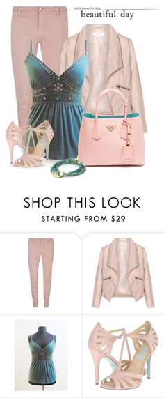 Turquoise & Pink by styledonna on Polyvore featuring moda, Zizzi, SELECTED, Betsey Johnson, Feather & Stone and Prada