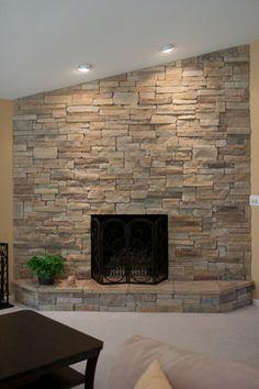 Fireplace On Pinterest Eldorado Stone Stone Fireplaces