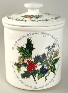 Portmeirion The Holly and The Ivy Cookie Jar