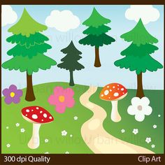 VECTOR WOODLAND ANIMALS 20 piece clip art set in by UrbanWillow
