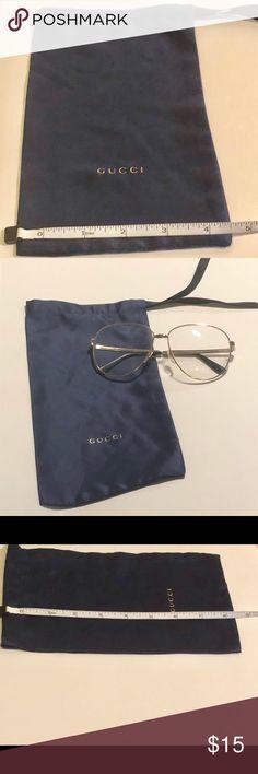 e56fd003996 Gucci dust bag for sunglasses case Navy blue dust bag to keep your Gucci  sunglasses or