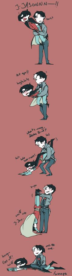 """All Jay wants is to play with his baby bird! << """"make me"""" oh Jay XD"""