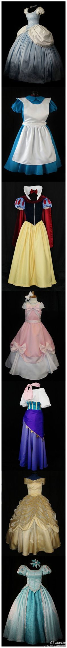 Now this is what I'm talking about. I would live to wear these princess gowns for Halloween