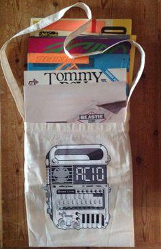 Across the body record bag - 303 groove box - acid head clothing