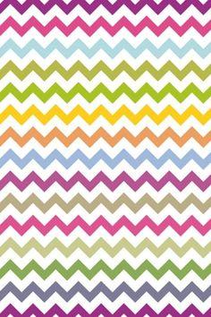 Multi colored chevron iphone wallpaper