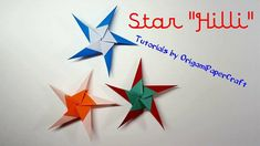 """How to make a STAR """"HILLI"""" Origami ⭐ Tutorial By OrigamiPaperCraft"""