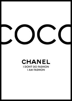 Coco Chanel Quote Art Print Coco Chanel Poster Chanel Wall Art Chanel Print I dont do fashion Framed Print Fashion Wall Art Art Chanel, Chanel Wall Art, Chanel Print, Citation Coco Chanel, Coco Chanel Quotes, Coco Chanel Pictures, Art Mural Fashion, Fashion Prints, Frames On Wall