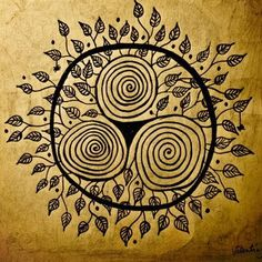 The Celtic Triskele, also called the spiral of life, the triple spiral and the triple goddess, is three equal spirals radiating from a common center.