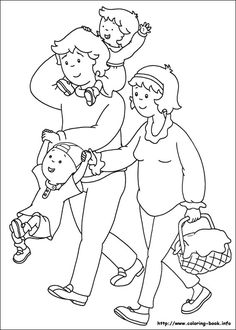 42 Caillou printable coloring pages for kids. Find on coloring-book thousands of coloring pages. Family Coloring Pages, Coloring Book Pages, Printable Coloring Pages, Free Coloring, Coloring Pages For Kids, Coloring Sheets, Caillou, Family Theme, Cartoons