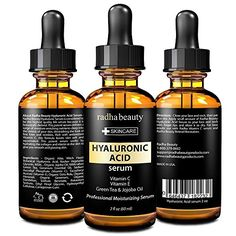 Radha Beauty Hyaluronic Acid Serum For Face & Skin - Best Moisturizing and Anti aging Serum With Hyaluronic Acid, Vitamin C, Vitamin E & Green Tea.