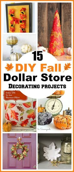 15 DIY Fall Dollar Store Home Decor Projects