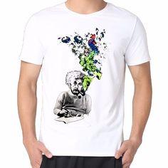 >> Click to Buy << Free shipping new 2017 men t shirt  Albert Einstein Smoking plus size fashion design brand clothing Male T-shirt #Affiliate