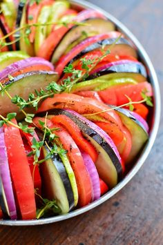 Ratatouille | How to Make An Easy Vegan Ratatouille | WorldofVegan.com | #vegetarian #vegan #veggies #healthy #dinner #lunch #recipe #ratatouille