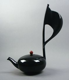 Musical Note tea pot ~ by Mirabelli Designs, Wenatchee, WA - fabulous! Bet it won't fit in the dishwasher......