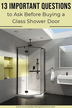 If you are considering buy a glass shower door for your bathroom, you need to make sure you are asking all the RIGHT questions. Check out this article!   Innovate Building Solutions #BeautifulGlass #GlassDoor #ShowerDoor   Glass Shower Door   Custom Shower Door Framed Shower Door, Shower Wall Panels, Glass Shower Doors, Sliding Glass Door, Best Bathroom Flooring, Custom Shower Doors, Bathroom Remodeling Contractors, Next Bathroom, Shower Seat