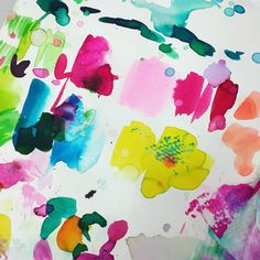 Embrace the mess. #hardatwork #abeautifulmess #colorcrush #watercolor #artist #originalart #create #studiolife #behindthescenes at #designworksinternational