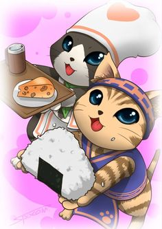 monster hunter- that chef kitties!