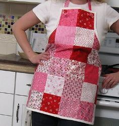 Knotty Little Valentine's Day Apron tutorial by Melissa Corry from Happy Quilting. Surprise your sweetie by learning how to make a simple apron for Valentine's Day!