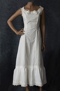 Princess line cotton petticoat, c.1905. With its smooth fit,, perfect under a sheer tea dress.