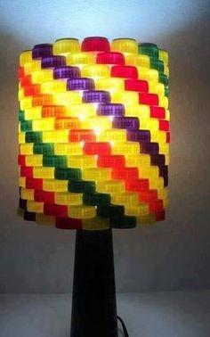 DIY Bottle Caps Lampshade