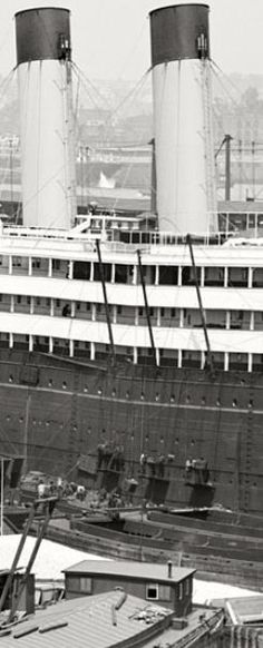 White Star Line's Baltic shows her coaling ports
