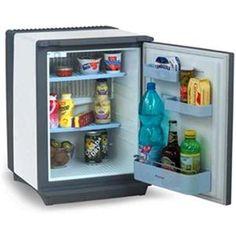 DOMETIC - DS400WH _ Mini-réfrigérateur à absorption - Totalement silencieux (ni moteur - ni compresseur) - Fuzz Logic économiseur d'énergie - Dégivrage automatique - Eclairage intérieur - Contre-porte aménagée - Panneau de façade habillable - Porte réversible.
