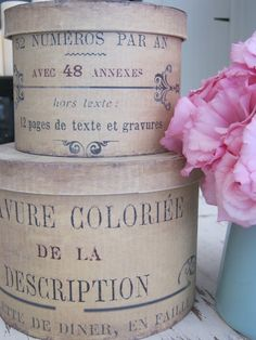 Love these hat boxes...