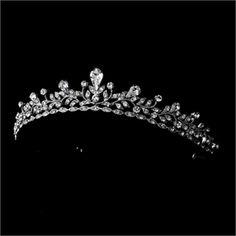 Silver Clear Rhinestone Crystal Bridal Tiara Headband $58.93