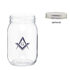 Glass Mason Jar, 16oz.