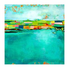 Found it at AllModern - 'Patchwork Landscape' by Paula Prass Painting Print on…