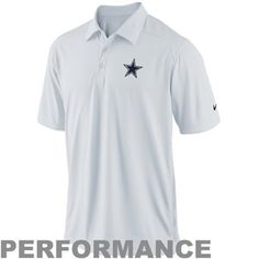 Nike Dallas Cowboys Coaches Performance Polo - White 5342df947