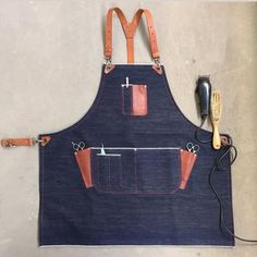 Custom made 14 oz selvedge denim barber apron with leather strap.#barber#sgbarbershop#baristalife#barbersg#barbersingapore#madeinsingapore#hairdresser#sgbarber#barbershopconnect#selvedge#selvedgedenim#handmade#baking#baristasg#coffee#cafe#hipcafe#sgcafes#madeinsingapore#supportlocal#leathersg#sgleathercrafters#leathercraft