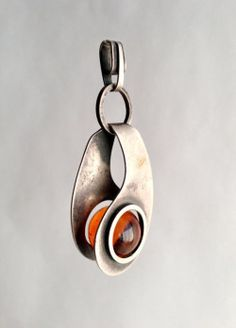 Amber Modernist Pendant Paul Lobel 1950's