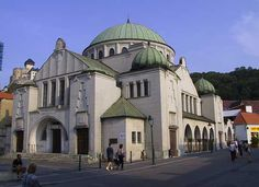 The abandoned synagogue in Lučenec, Slovakia. It served a large Jewish population before WWII.