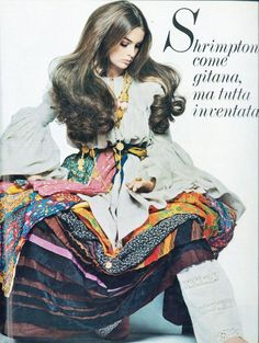 Jean Shrimpton inGiorgio di Sant Angelo for Vogue Italia.