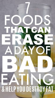 7 Foods That Can Erase a Day of Unhealthy Eating These weight loss tips will really help me out when I lose weight! I'm glad I found these ideas for weight loss motivation! They'll really help me out with my weight loss meals! Weight Loss Challenge, Weight Loss Plans, Fast Weight Loss, Healthy Weight Loss, Weight Gain, Reduce Weight, Diet Challenge, Weight Warchers, Water Weight