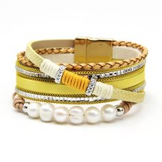 $11.53 | ZG PU leather pearl women bracelet in 3 colors bohemia women jewelry pearl bracelet&bangle Outfit Accessories FromTouchy Style | Free International Shipping. Pearl Bracelet, Pearl Jewelry, Bangle Bracelets, Bangles, Teenager Fashion Trends, Little Girl Jewelry, Layered Bracelets, Pu Leather, Women Jewelry