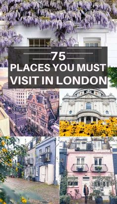 75 places you must visit in London: things to do, where to eat what what to do. UK capital destinations in London, England. : 75 places you must visit in London: things to do, where to eat what what to do. UK capital destinations in London, England. Europe Destinations, Holiday Destinations, London Eye, London Bucket List, Places To Travel, Places To See, Uk Capital, London Attractions, Reisen In Europa