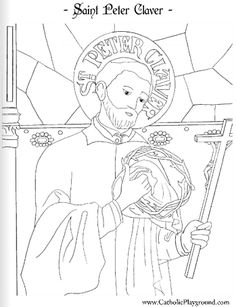 saint peter claver catholic coloring page 2 feast day is sept 9th