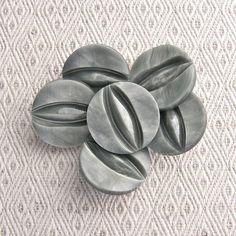 Vintage Retro Mod Buttons 22mm  7/8 inch Carved by brizelsupplies