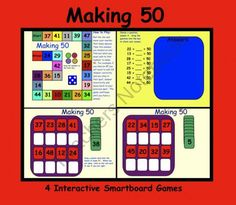 Making 50: Four Interactive Smartboard Games product from Teaching The Smart Way on TeachersNotebook.com