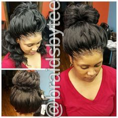 Braided Updo with Curls - 20 Cute Upside-Down French Braid Ideas - The Trending Hairstyle Crochet Braids Hairstyles, African Braids Hairstyles, Braided Hairstyles, Crotchet Braids, Hairdos, Woman Hairstyles, Goddess Hairstyles, Black Hairstyles, Braided Updo