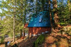 This is a 580 sq. Off-Grid A-Frame cabin for sale in Skykomish, WA and you're invited to come on in to take the full tour and learn more inside! A Frame House Plans, A Frame Cabin, Cabins For Sale, Lake George Village, Romantic Places, Off The Grid, Wonders Of The World, Tiny House, Architecture