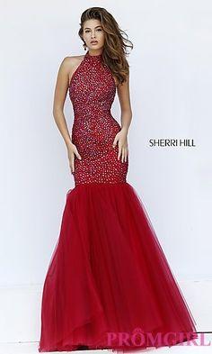 Open Back Sleeveless Mermaid Style Prom Dress by Sherri Hill at PromGirl.com