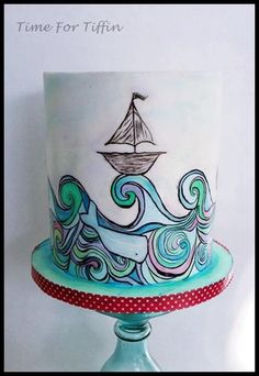 Sailing away - Cake by Time for Tiffin