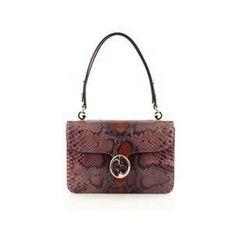 Gucci Flap Top Handle Bag Python